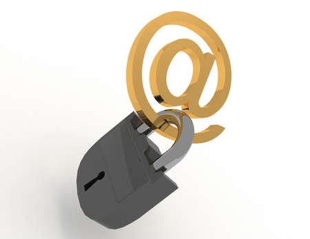 3d symbol internet with keys