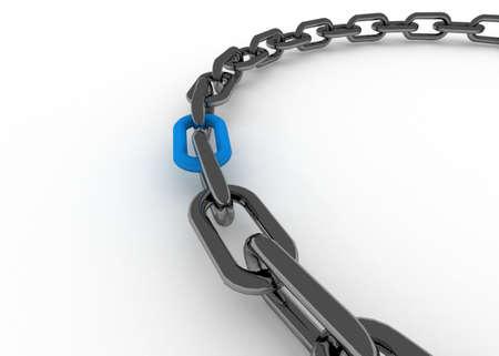 chain concept 3d Banque d'images