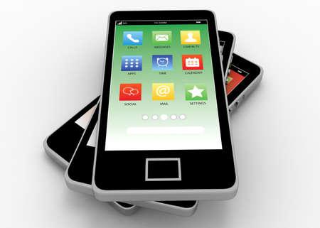 smartphone concept 3d