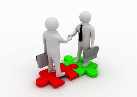 3d man shaking hands 免版税图像