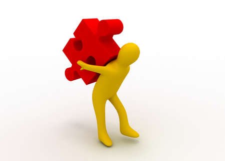 man carry puzzle