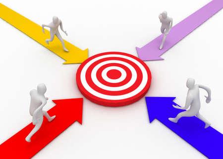 target concept Banque d'images