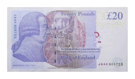 banknotes 20 British pound