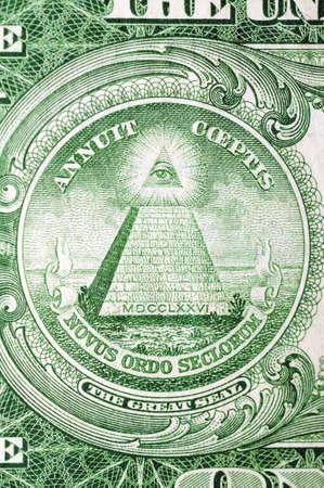 masonic: Masonic symbol for One US dollar 1935th