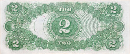 two us dollar: Historic banknote, two dollars USA - 1917