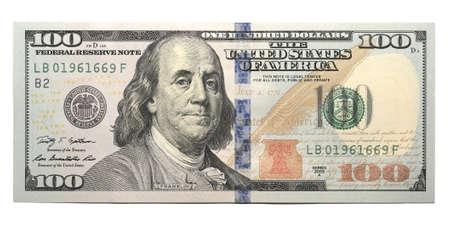 新 100 ドル紙幣 写真素材