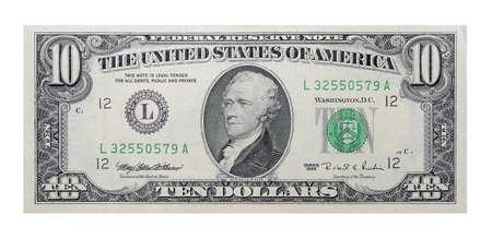 u s: 10 US dollars banknote