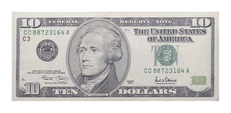 singly: New 10 US dollars banknote