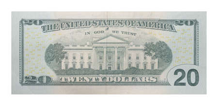 New 20 US dollars banknote 写真素材