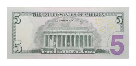 singly: New 5 US dollars banknote
