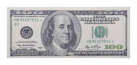 financially: 100 US dollars banknote