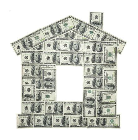 100米ドル紙幣の家(古いサンプル)