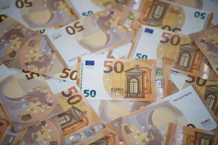 50 Euro banknotes (sample 2017) Stock Photo