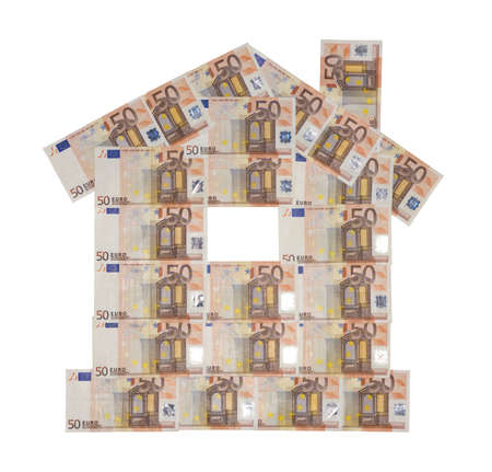 House of 50 Euro bank notes (sample 2002) Stock Photo