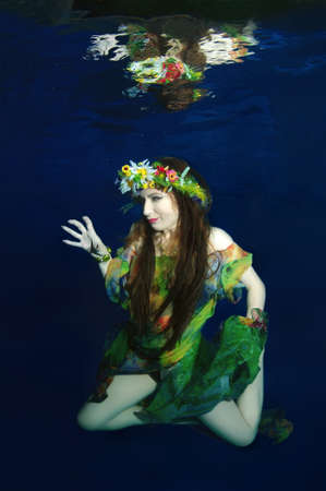 Young woman in the image of a forest fairy -  Far East, Primorye, Primorsky Krai, Russia Banco de Imagens - 102888114