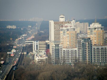 Residential area city view