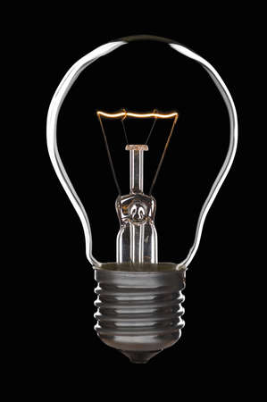 Lamp bulb over black background Stock Photo - 2168687