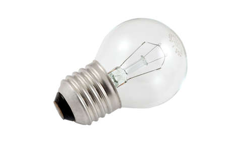 incandescence: An electro-bulb is over white