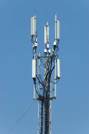 Transmitter over blue sky photo