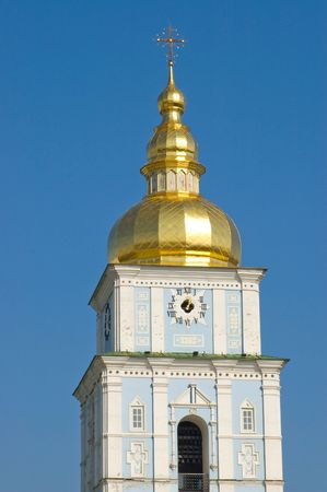 synod: Cupola orthodox church on the blue sky