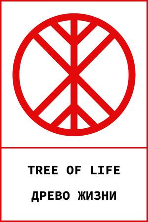 Vector Of Ancient Pagan Slavic Symbol Of Tree Of Life With Name