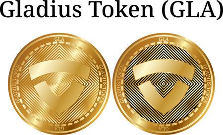 Set of physical golden coin Gladius.