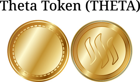 Set of physical golden coin Steem Dollars (SBD), digital cryptocurrency. Steem Dollars (SBD) icon set. Vector illustration isolated on white background.