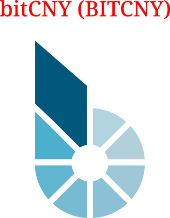Vector Bitcny (BITCHY) digital cryptocurrency logo. Bitcny (BITCHY) icon. Vector illustration isolated on white background.