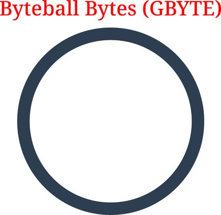 Vector Byteball Bytes (GBYTE) digital cryptocurrency logo. Byteball Bytes (GBYTE) icon. Vector illustration isolated on white background. Illustration