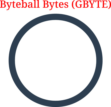 Vector Byteball Bytes (GBYTE) digital cryptocurrency logo. Byteball Bytes (GBYTE) icon. Vector illustration isolated on white background.  イラスト・ベクター素材