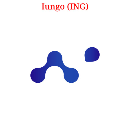 Vector Iungo (ING) digital cryptocurrency logo. Iungo (ING) icon. Vector illustration isolated on white background.