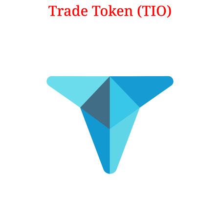 Vector Trade Token (TIO) digital cryptocurrency logo. Trade Token (TIO) icon. Vector illustration isolated on white background.