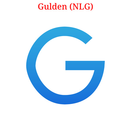 Vector Gulden (NLG) digital cryptocurrency logo. Gulden (NLG) icon. Vector illustration isolated on white background. Illustration