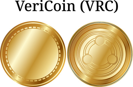 Set of physical golden coin TransferCoin (TX), digital cryptocurrency. TransferCoin (TX) icon set. Vector illustration isolated on white background.