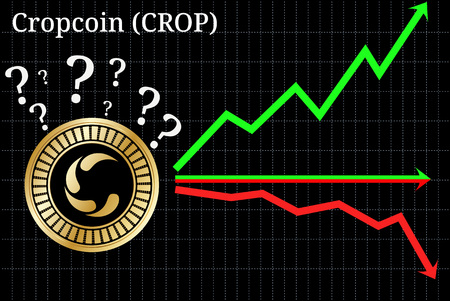 Possible graphs of forecast Cropcoin (CROP) - up, down or horizontally. Cropcoin (CROP) chart.