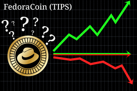 Possible graphs of forecast FedoraCoin (TIPS) - up, down or horizontally. FedoraCoin (TIPS) chart.