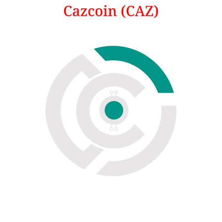 Vector Cazcoin (CAZ) digital cryptocurrency logo. Cazcoin (CAZ) icon. Vector illustration isolated on white background.