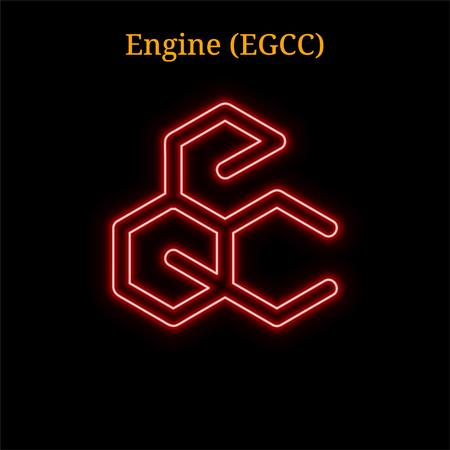 Engine (EGCC) cryptocurrency symbol. Vector illustration eps10 isolated on black background Illustration