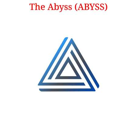 The Abyss (ABYSS) cryptocurrency logo Archivio Fotografico - 103778848