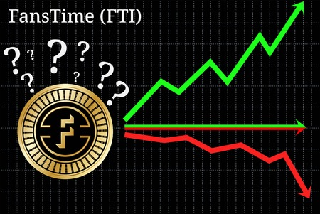 Possible graphs of forecast FansTime (FTI) cryptocurrency - up, down or horizontally. FansTime (FTI) chart