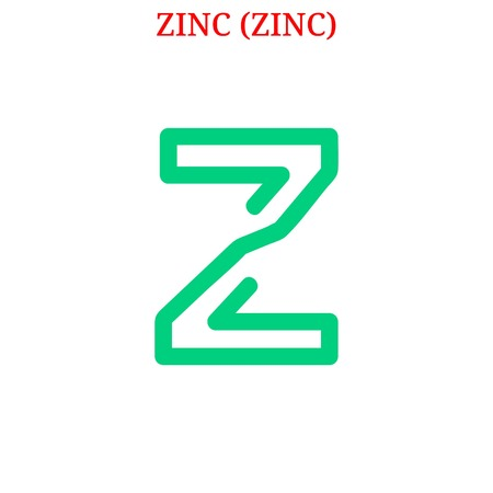 ZINC (ZINC) cryptocurrency  イラスト・ベクター素材