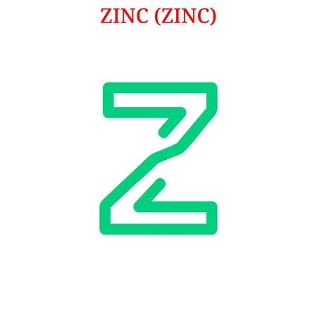 ZINC (ZINC) Kryptowährung Vektorgrafik