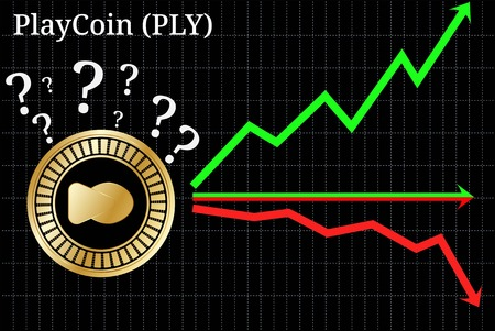 Possible graphs of forecast PlayCoin (PLY) cryptocurrency - up, down or horizontally. PlayCoin (PLY) chart