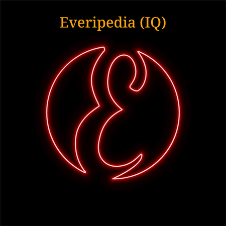 Everipedia (IQ) cryptocurrency symbol. Vector illustration Illustration