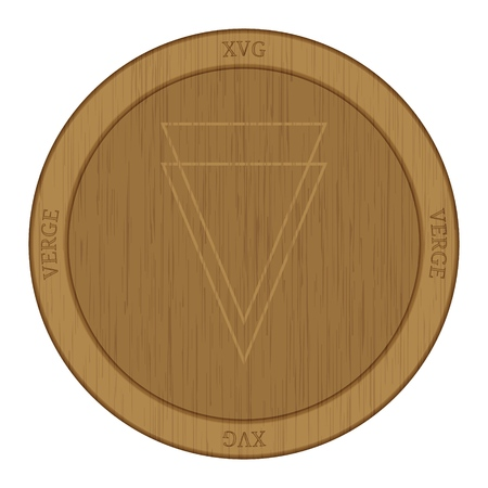 Wooden Verge (XVG) cryptocurrency coin.