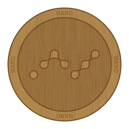 Wooden Nano (NANO) cryptocurrency coin.