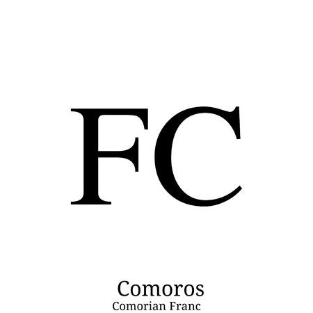 Comorian Franc currency symbol Ilustração