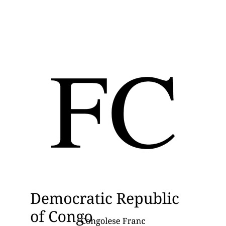 Congolese Franc currency symbol