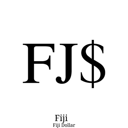 Fiji Dollar currency symbol Illustration