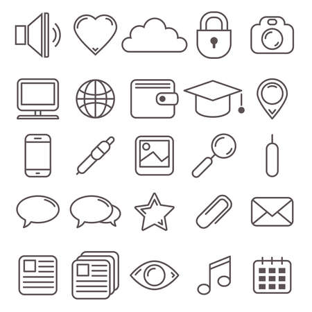 vector set van web iconen en pictogrammen